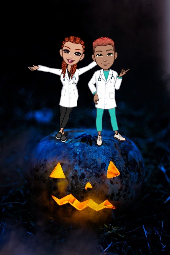 Halloween costume with doctors costume 1